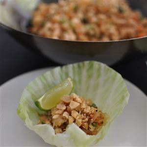 Minced Chicken & Prawn Parcels